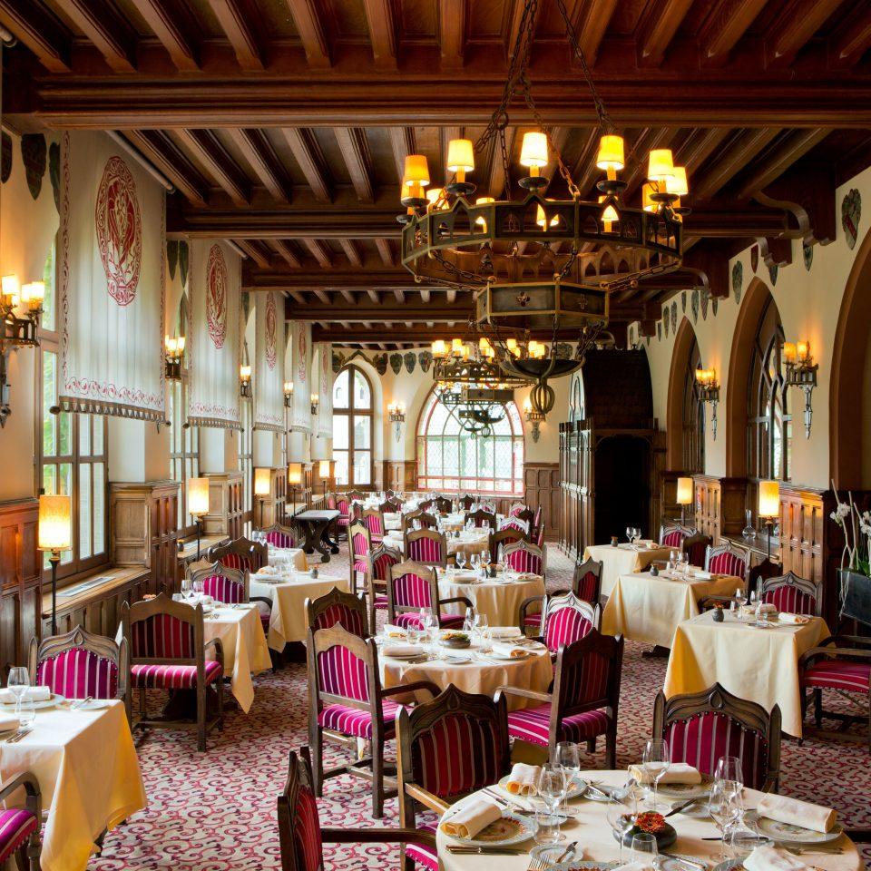 Dining Drink Eat Elegant Historic Luxury function hall restaurant ceremony ballroom wedding reception palace set