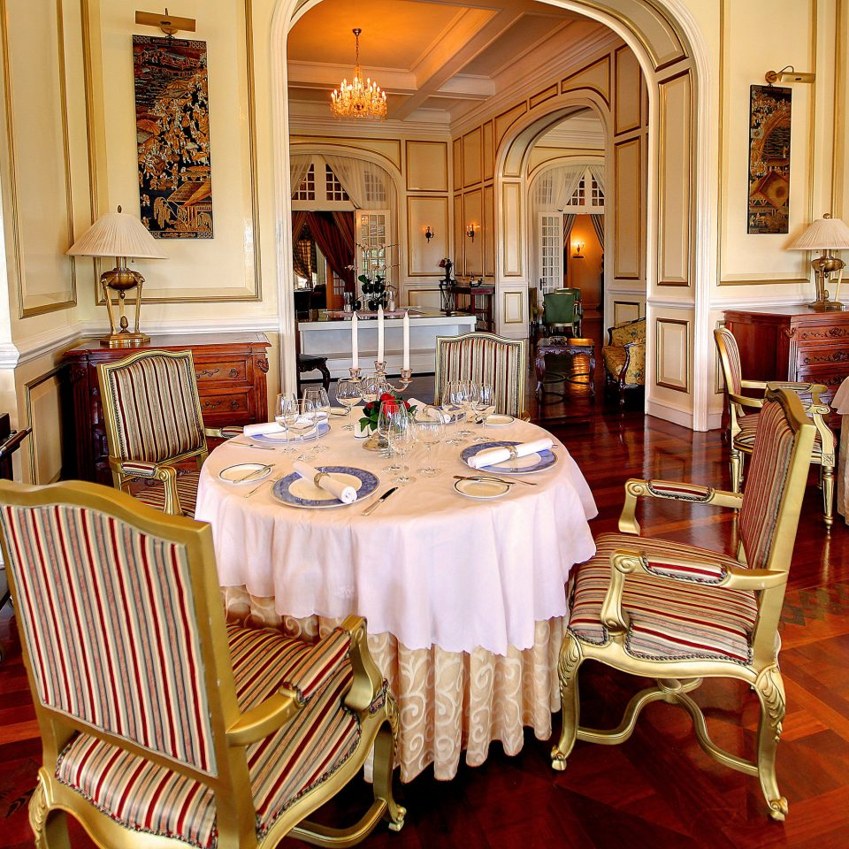 Dining Drink Eat Elegant Historic Luxury chair restaurant Suite home function hall palace mansion dining table