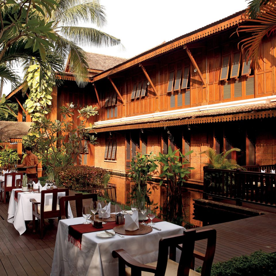 Dining Drink Eat Exterior Patio Resort Rustic tree building restaurant hacienda Villa