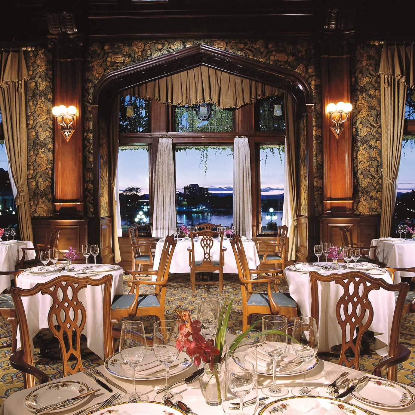 Dining Drink Eat Family Resort Scenic views chair restaurant palace function hall mansion dining table ballroom