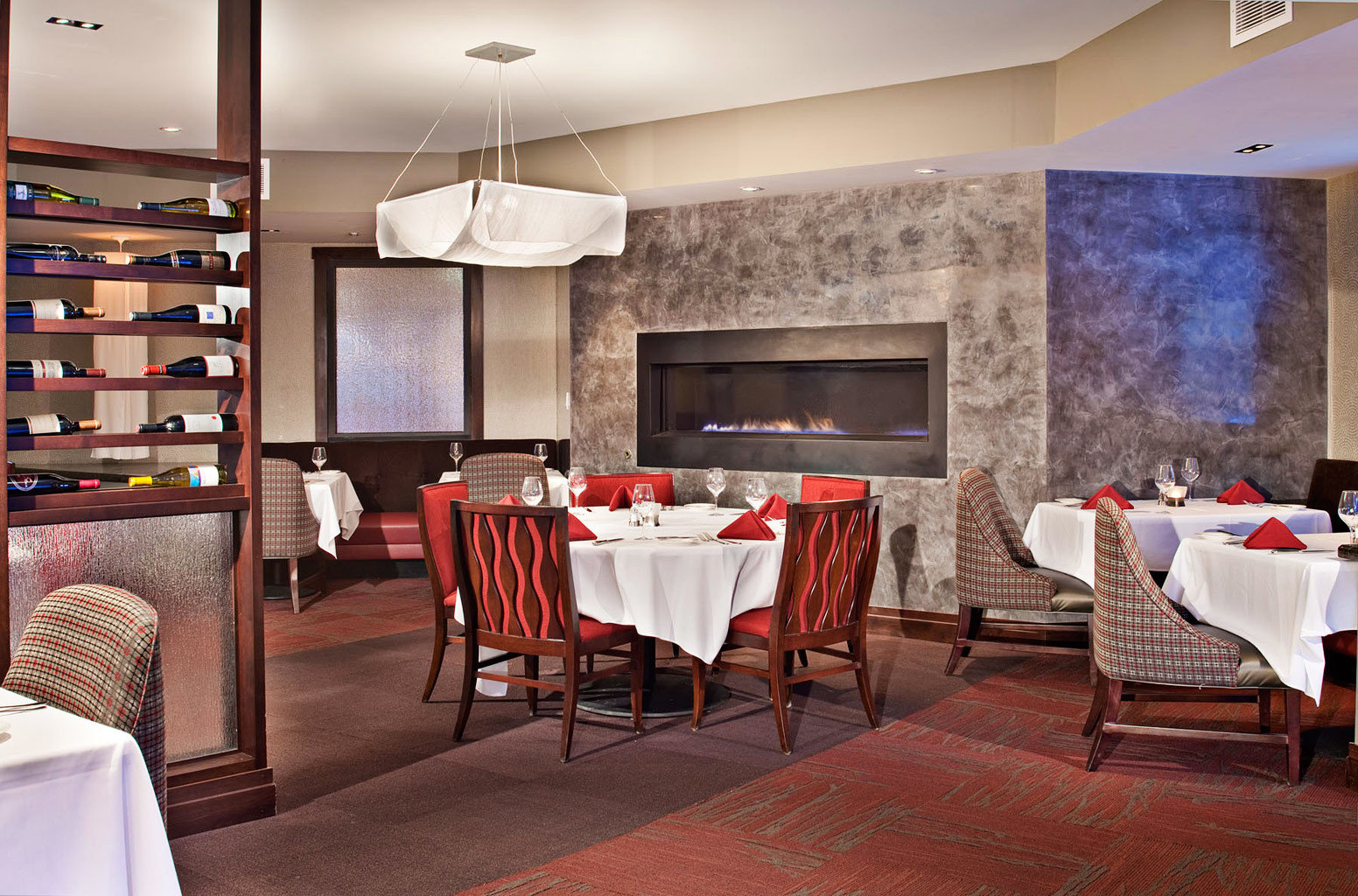 Dining Drink Eat Fireplace Modern chair restaurant function hall Suite
