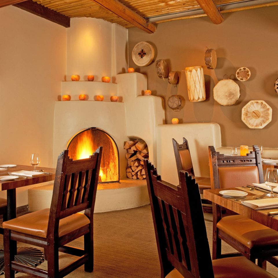 Dining Drink Eat Fireplace Historic Rustic restaurant café dining table