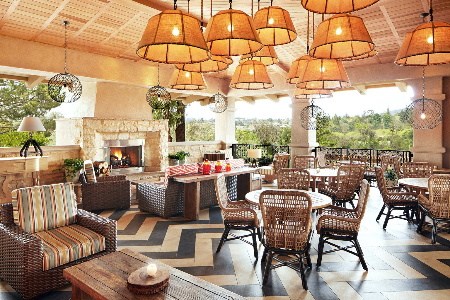 Dining Drink Eat Fireplace Inn Lounge Patio Resort chair property restaurant living room home Lobby arranged