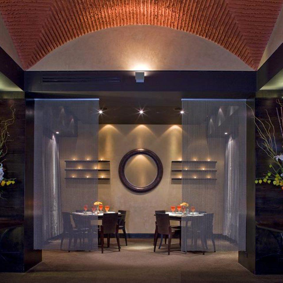 Dining Drink Eat Lobby Fireplace lighting function hall restaurant Modern stone Island