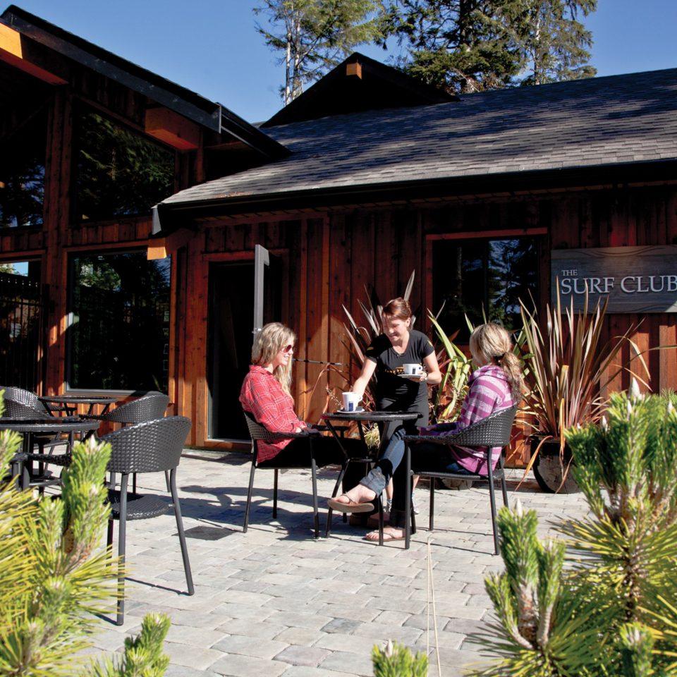 Dining Drink Eat Resort tree building house home restaurant cottage Village Garden