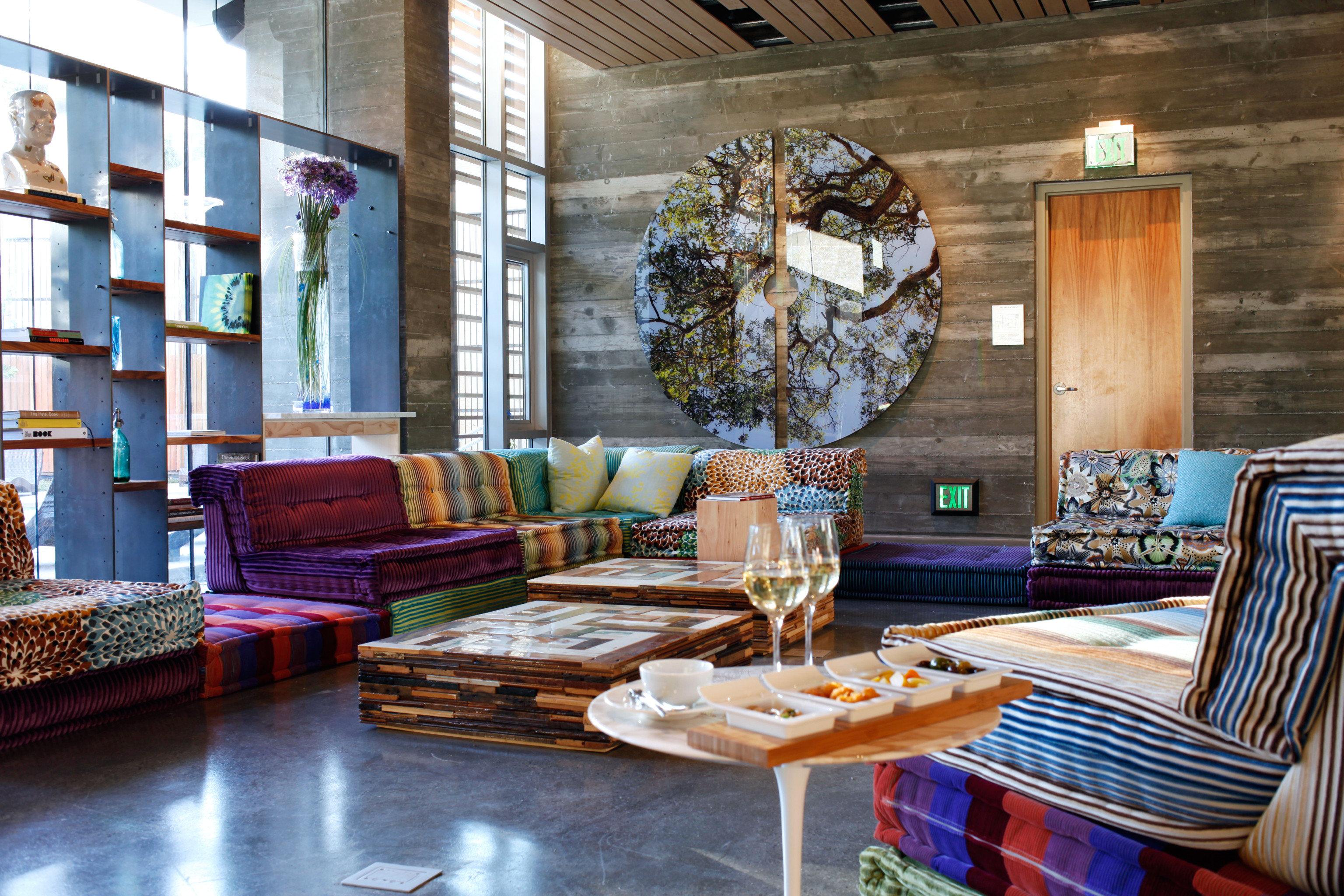 Dining Drink Eat Health + Wellness Hip Hotels Lobby Lounge Modern Yoga Retreats living room property home cottage mansion condominium farmhouse