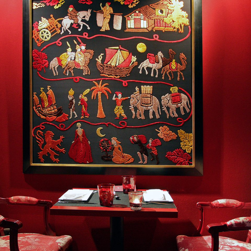 Dining Drink Eat Hip Modern red restaurant