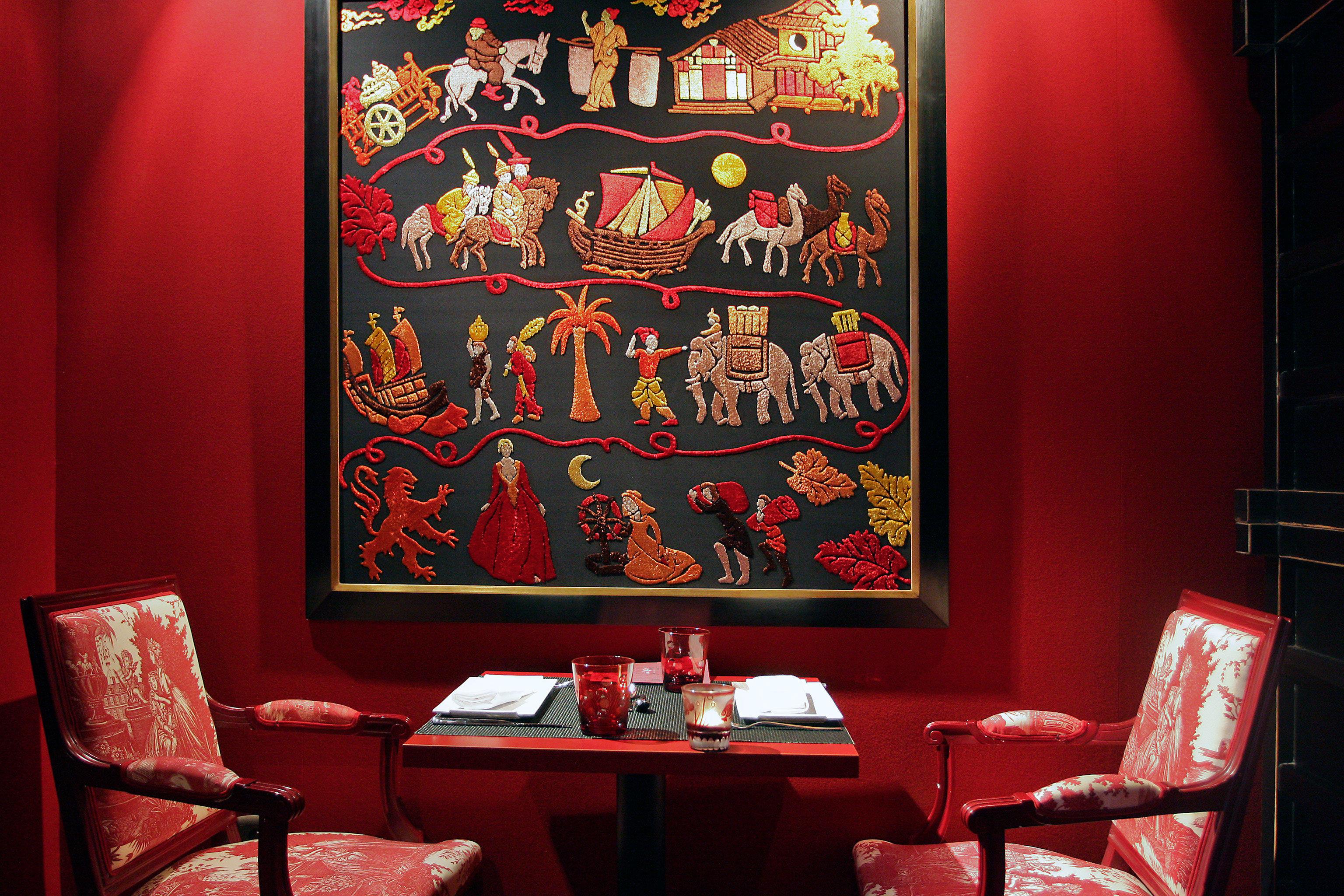 Dining Drink Eat Hip Modern red restaurant