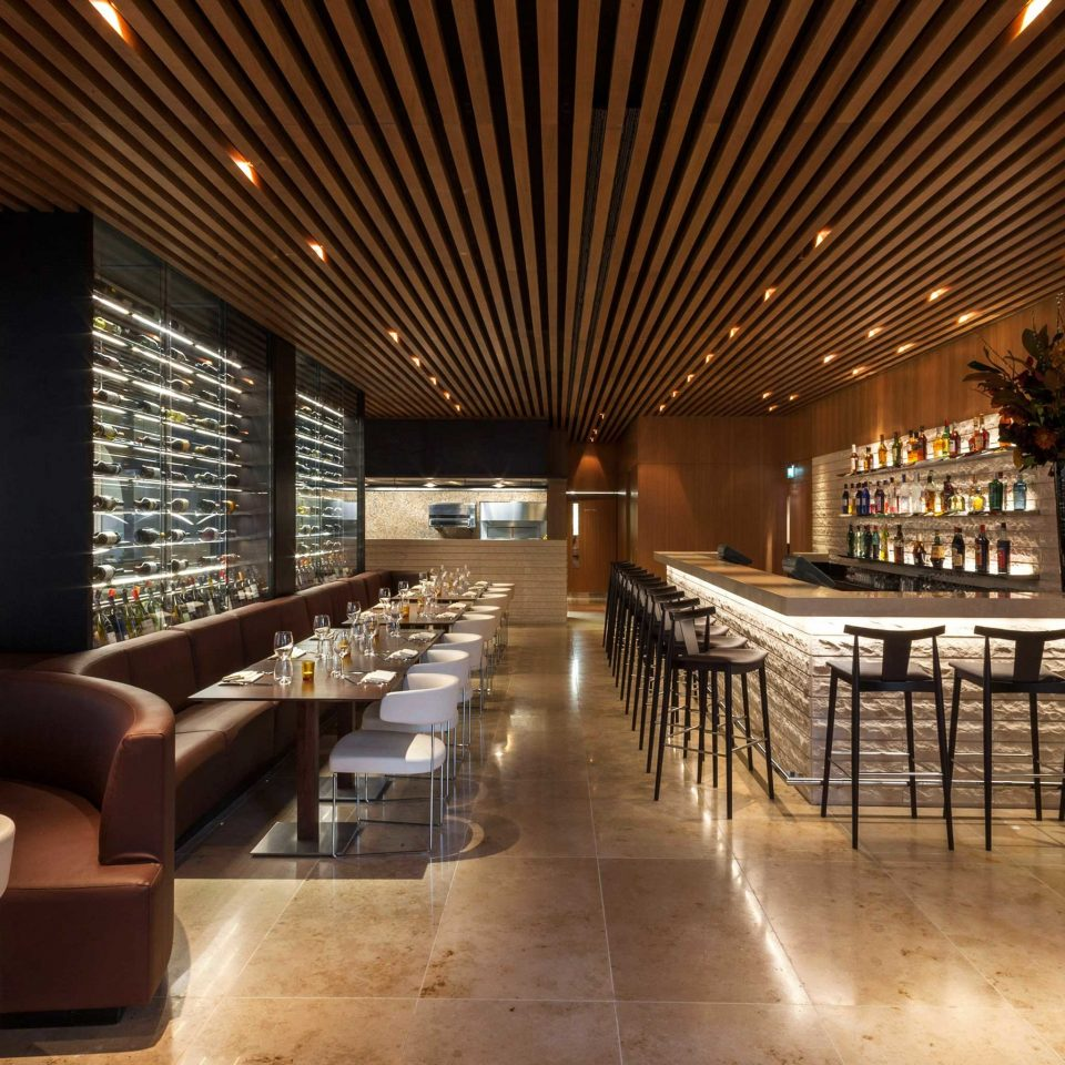 Dining Drink Eat Hip Lounge Luxury Modern Lobby function hall convention center recreation room restaurant living room