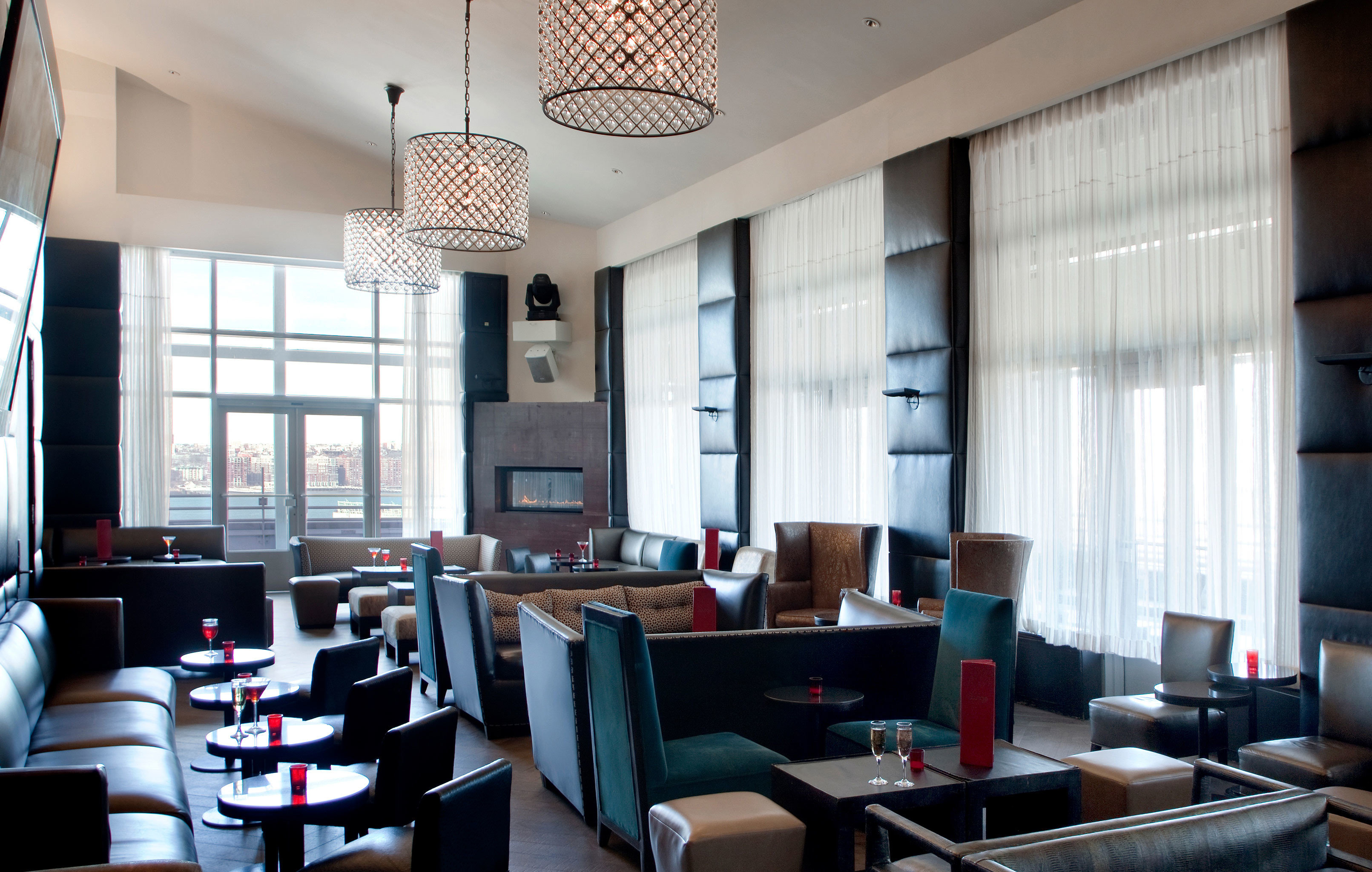 Dining Drink Eat Lounge Modern property living room condominium home Lobby loft