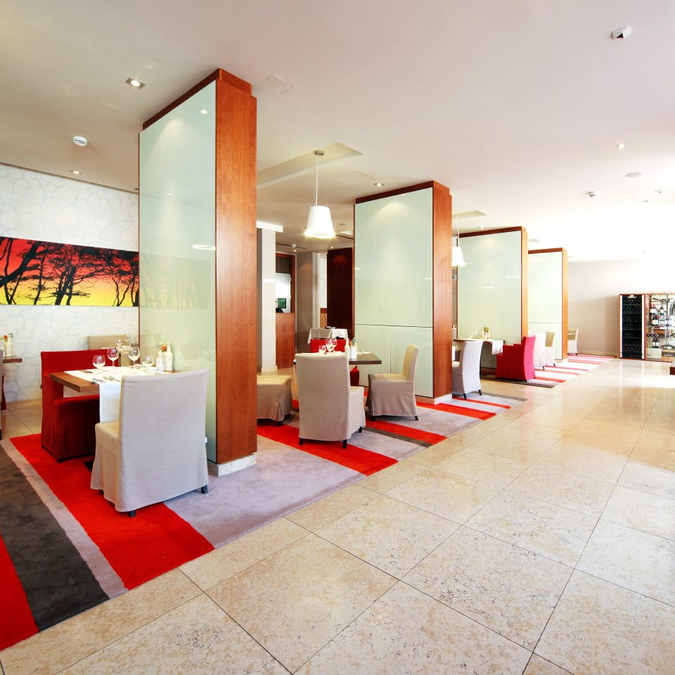 Dining Drink Eat red property Lobby restaurant flooring living room