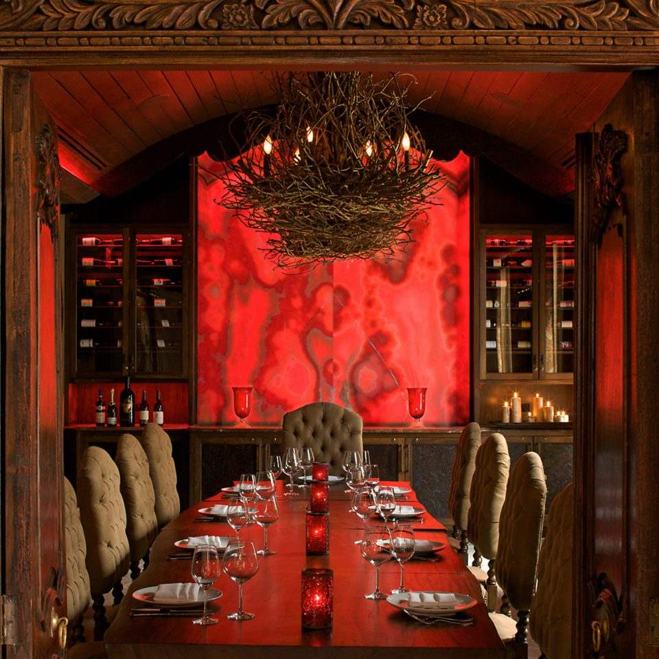 Dining Drink Eat Lounge Luxury Rustic red stage basement