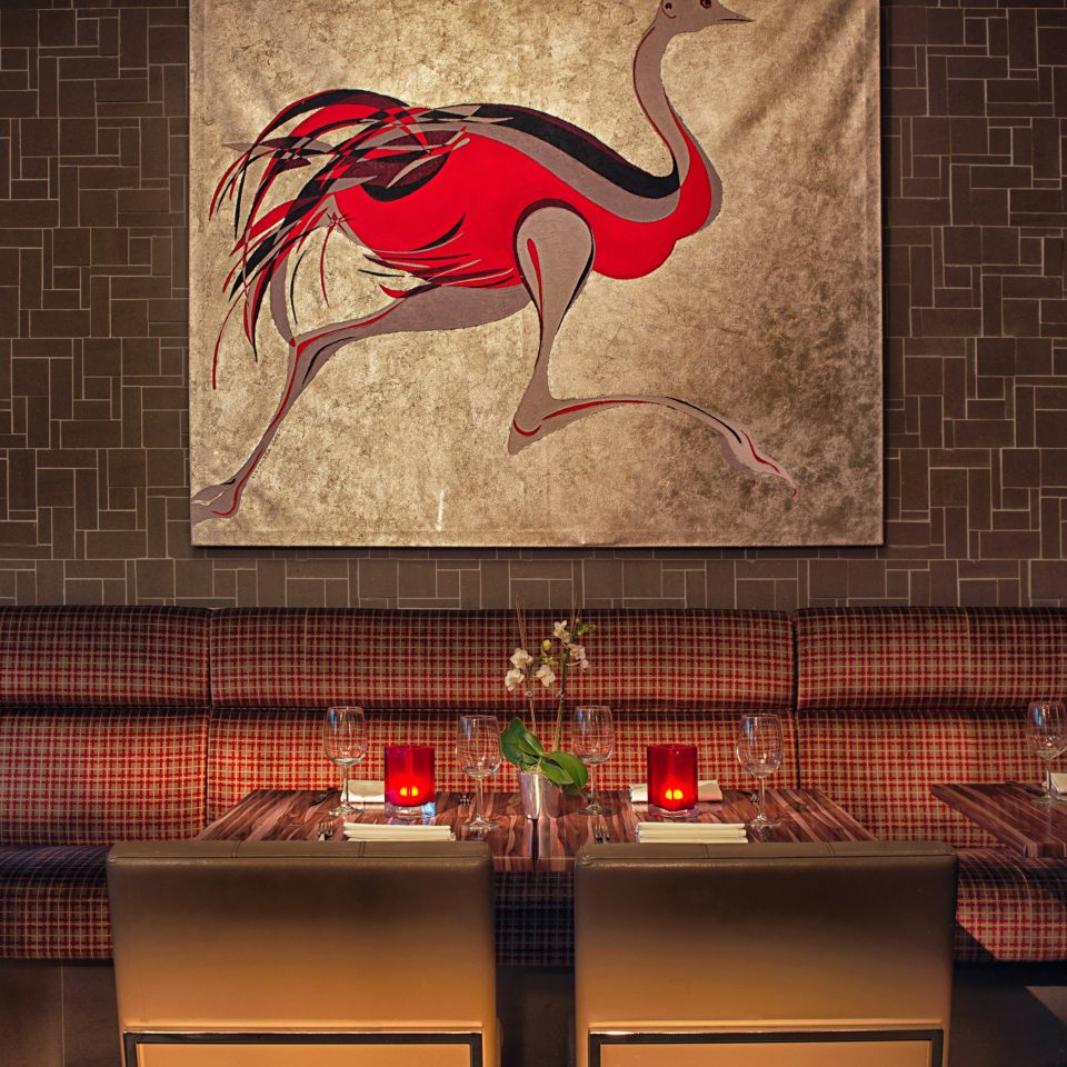 Dining Drink Eat Lounge Modern color red art lighting mural