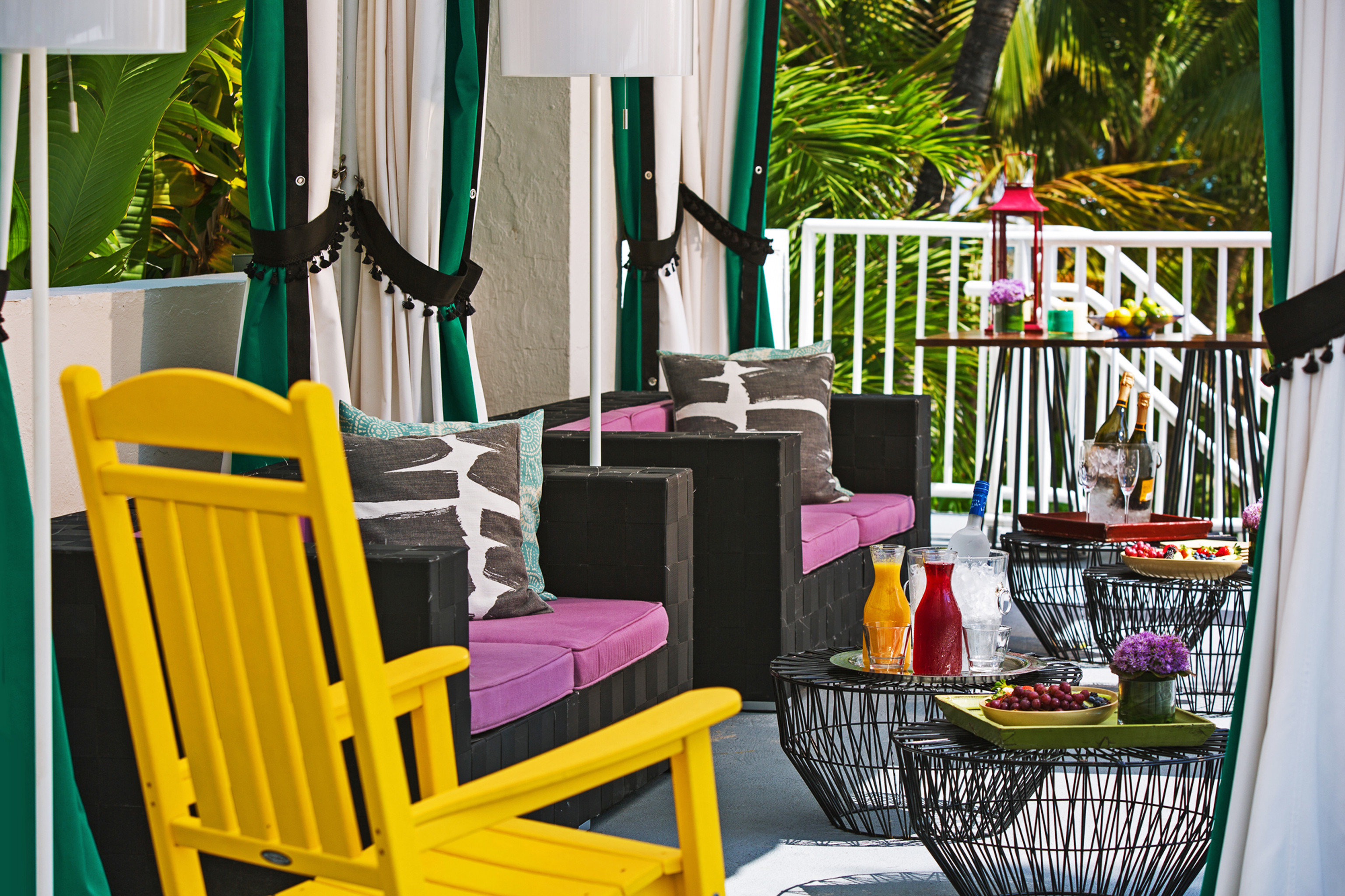 Drink Eat Modern Patio Resort chair Dining home colorful