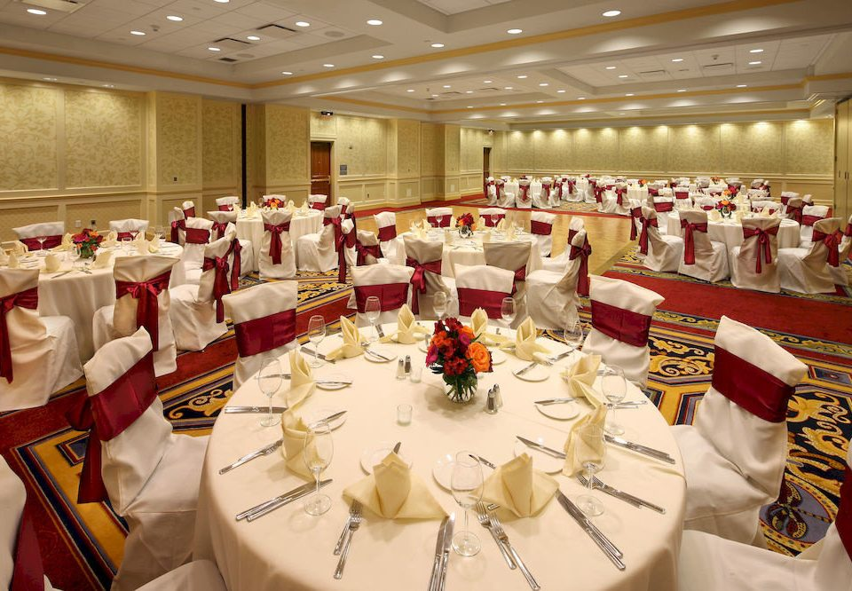 Dining Drink Eat Resort function hall banquet ceremony wedding ballroom event Party wedding reception dining table