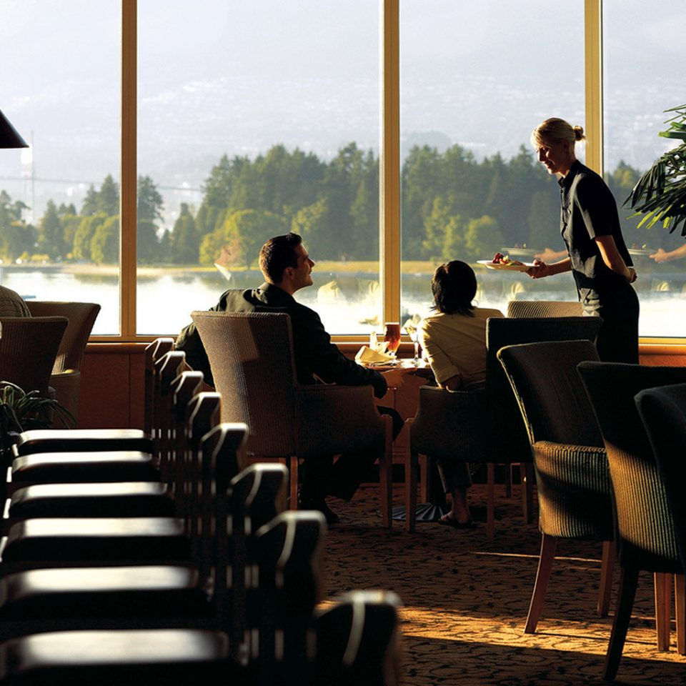 Dining Drink Eat Resort Scenic views Waterfront chair restaurant dining table conference room