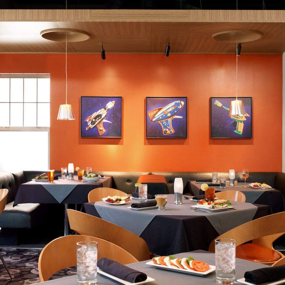 Dining Drink Eat Resort restaurant living room conference hall orange