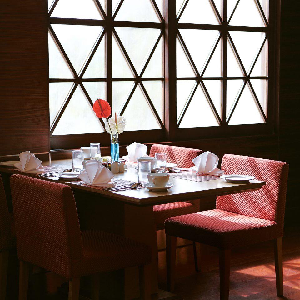 Dining Drink Eat Resort building restaurant red function hall set