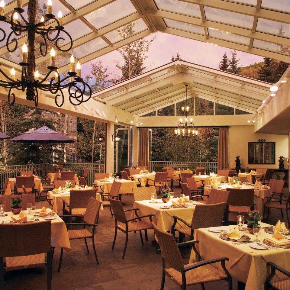 Dining Drink Eat Resort Rustic Terrace chair restaurant function hall ballroom set