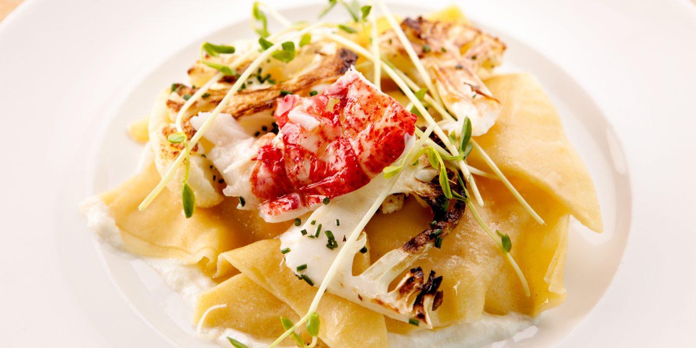 Dining Eat plate food white cuisine italian food pappardelle spaghetti carbonara european food thai food fettuccine pasta containing meat arranged piece de resistance