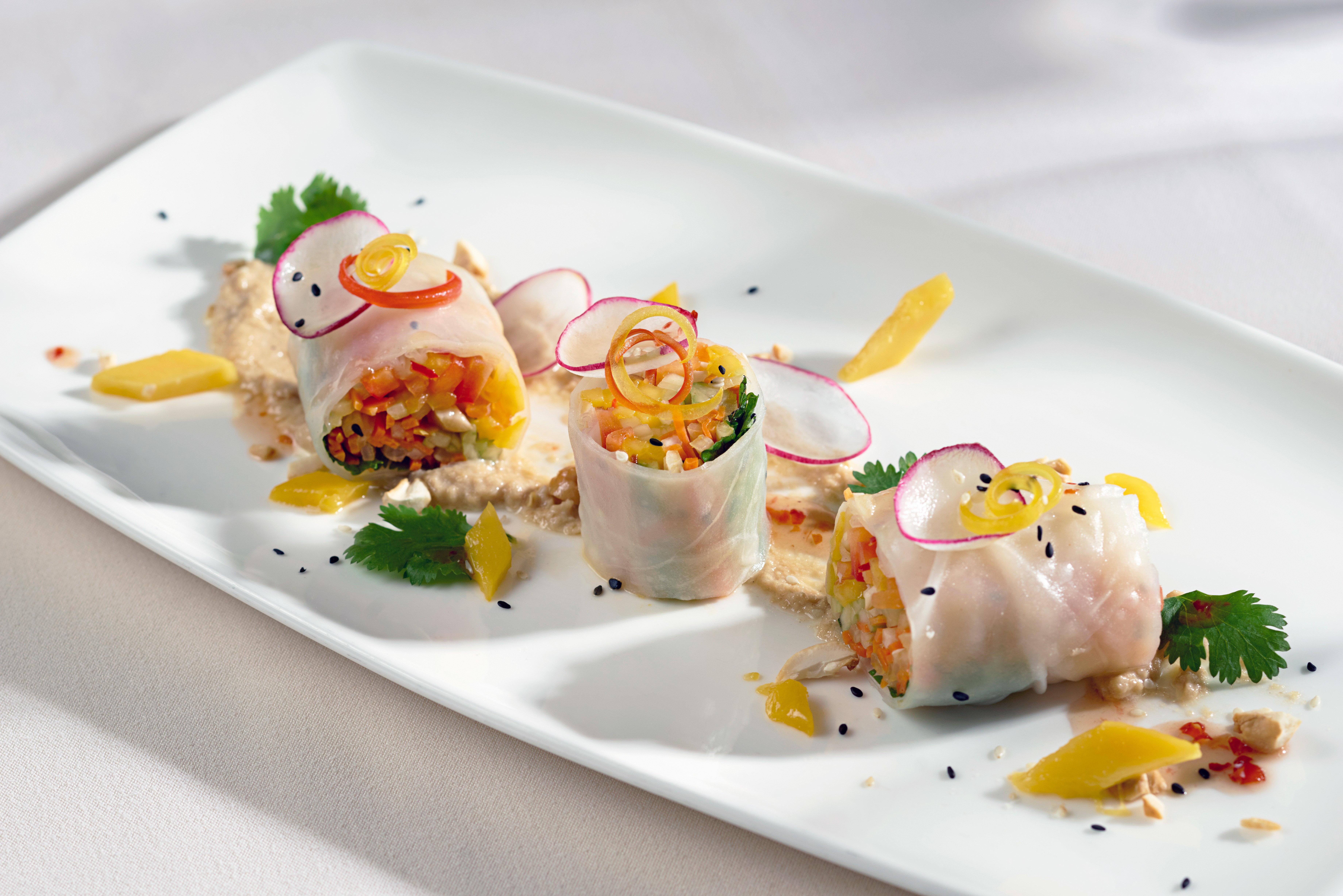 Dining Eat Elegant plate food hors d oeuvre cuisine smoked salmon white fish breakfast sense restaurant culinary art canapé