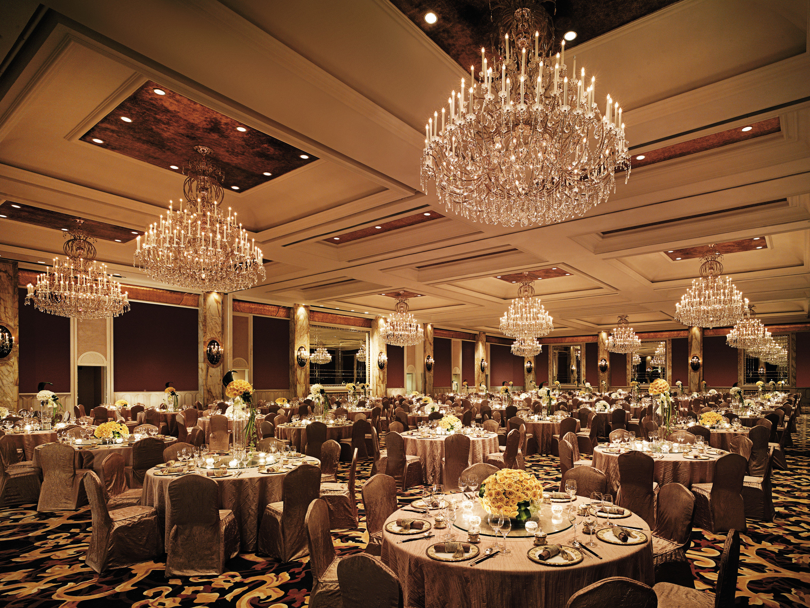 Dining Eat Elegant Historic Luxury function hall wedding banquet wedding reception ceremony ballroom Party dinner fancy set