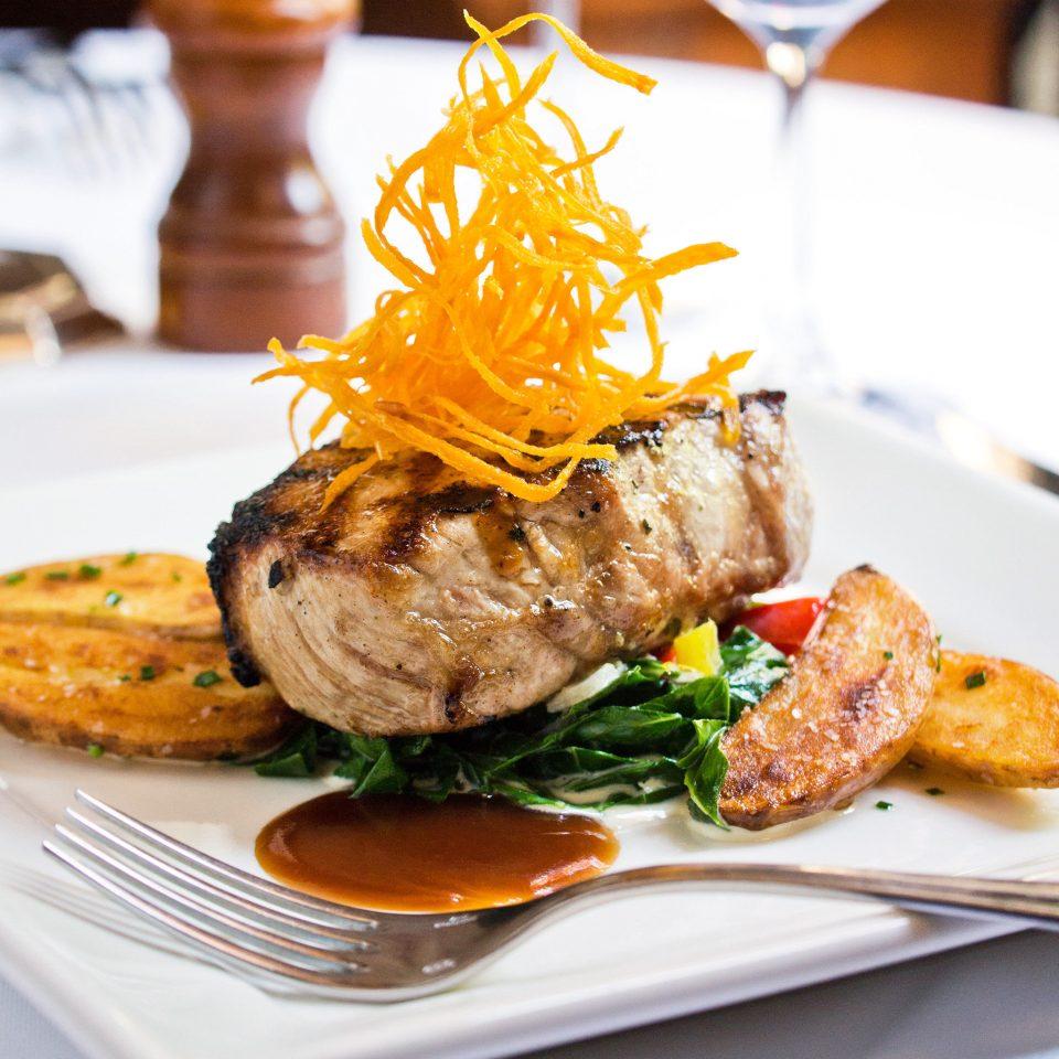 Dining Eat Elegant Inn plate food meat restaurant roasting cuisine steak grilling fried food breakfast dinner piece de resistance