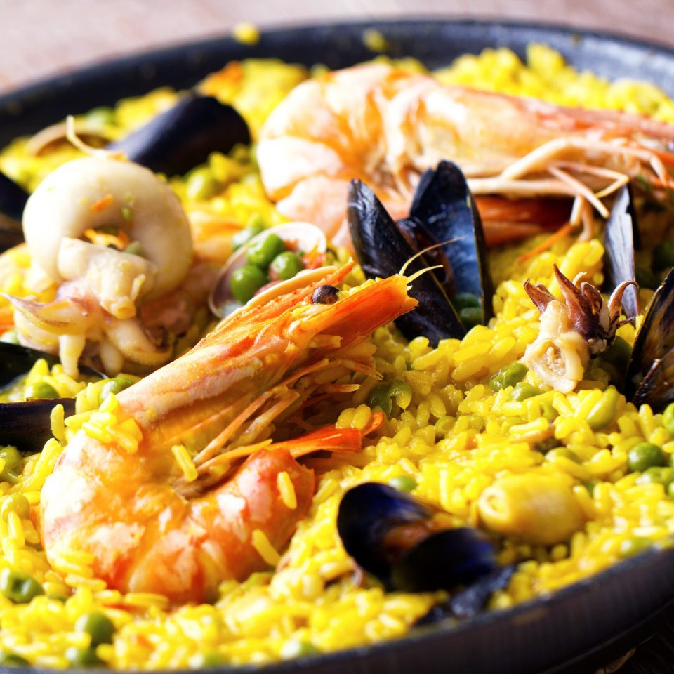 Dining Eat Food + Drink Resort food paella plate cuisine asian food european food thai food spanish cuisine fried rice