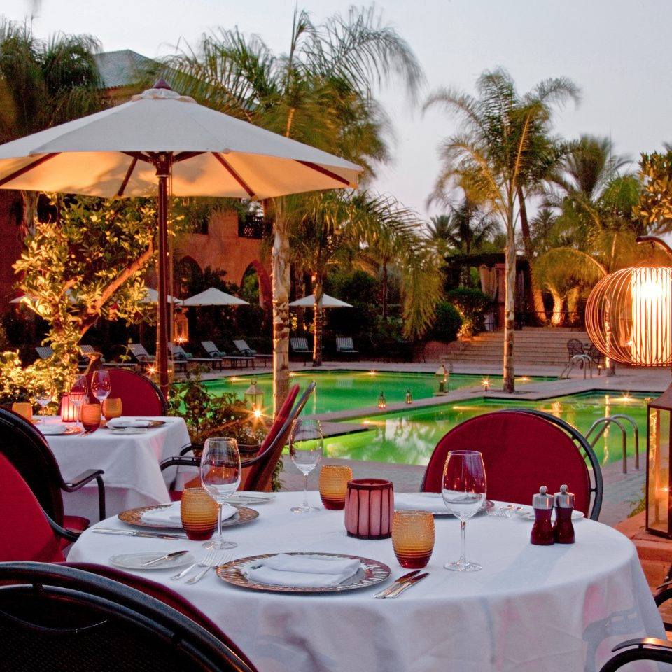 Dining Eat Honeymoon Pool Romance tree chair restaurant Resort hacienda backyard Villa set