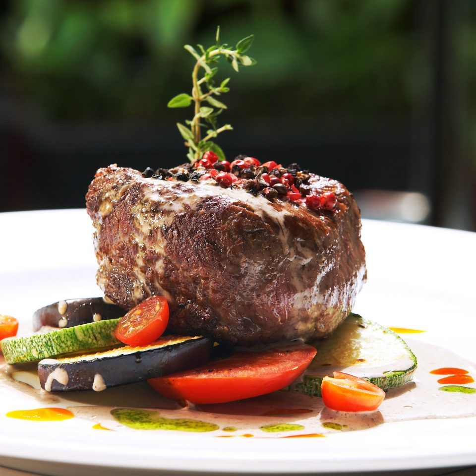 Dining Eat Luxury plate food meat steak piece roast beef sirloin steak garnish venison beef tenderloin slice roasting animal source foods rib eye steak lamb and mutton cuisine piece de resistance
