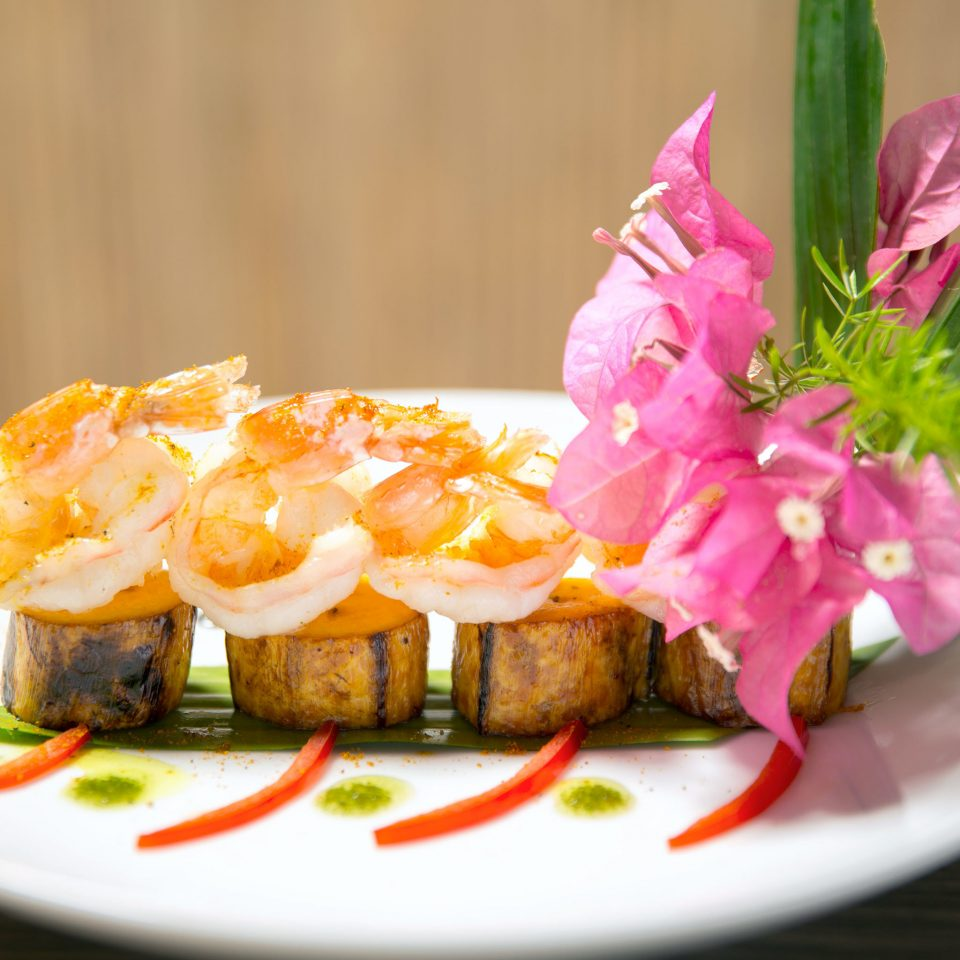 Dining Eat Resort plate food cuisine flower asian food hors d oeuvre sushi