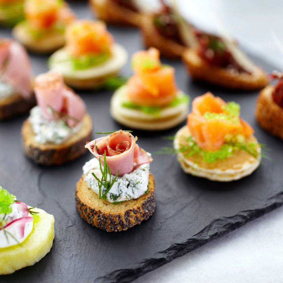 Dining Eat Resort food plate hors d oeuvre canapé slice breakfast bruschetta cuisine sense sushi sliced dessert