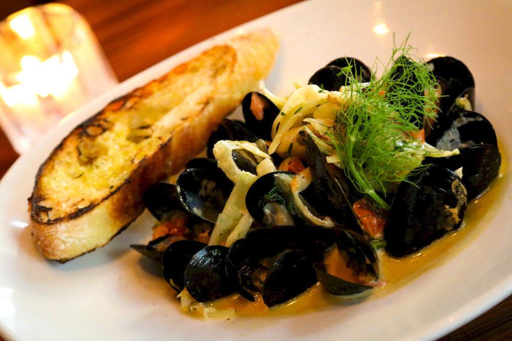 Dining Eat Resort plate food mussel cuisine fish restaurant vegetable vegetarian food Seafood breakfast meat piece de resistance