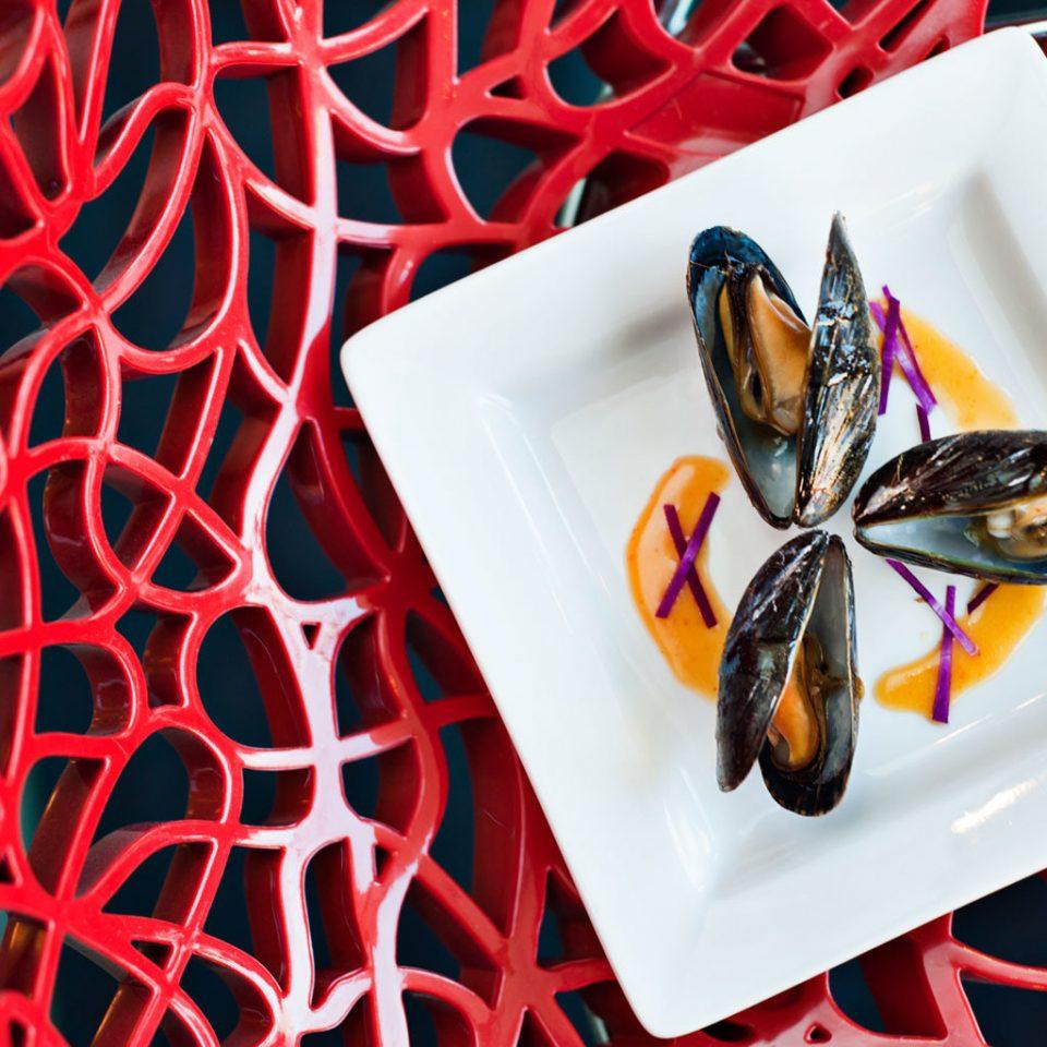 Dining Eat Resort red food invertebrate Seafood flower illustration mussel vegetable