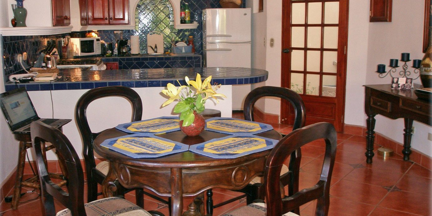 Eco Rustic chair property home hardwood cottage living room Villa Dining farmhouse dining table surrounded