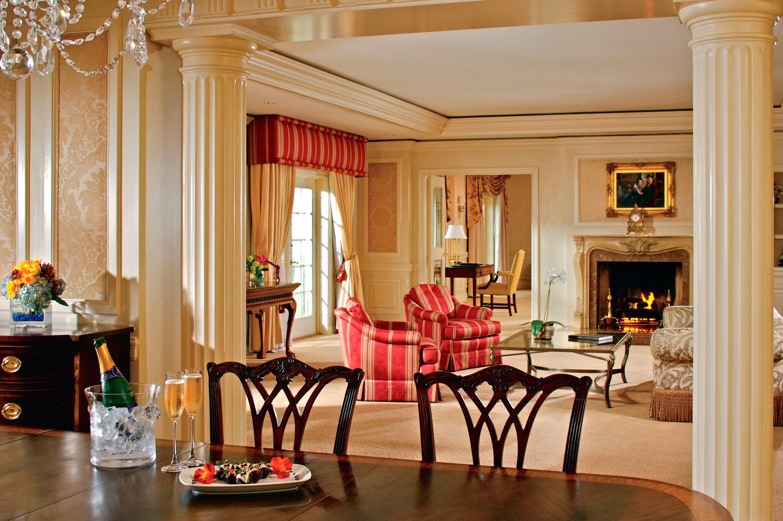 Dining Elegant Fireplace Hotels Lounge Luxury Suite property living room home Lobby mansion Villa restaurant Resort