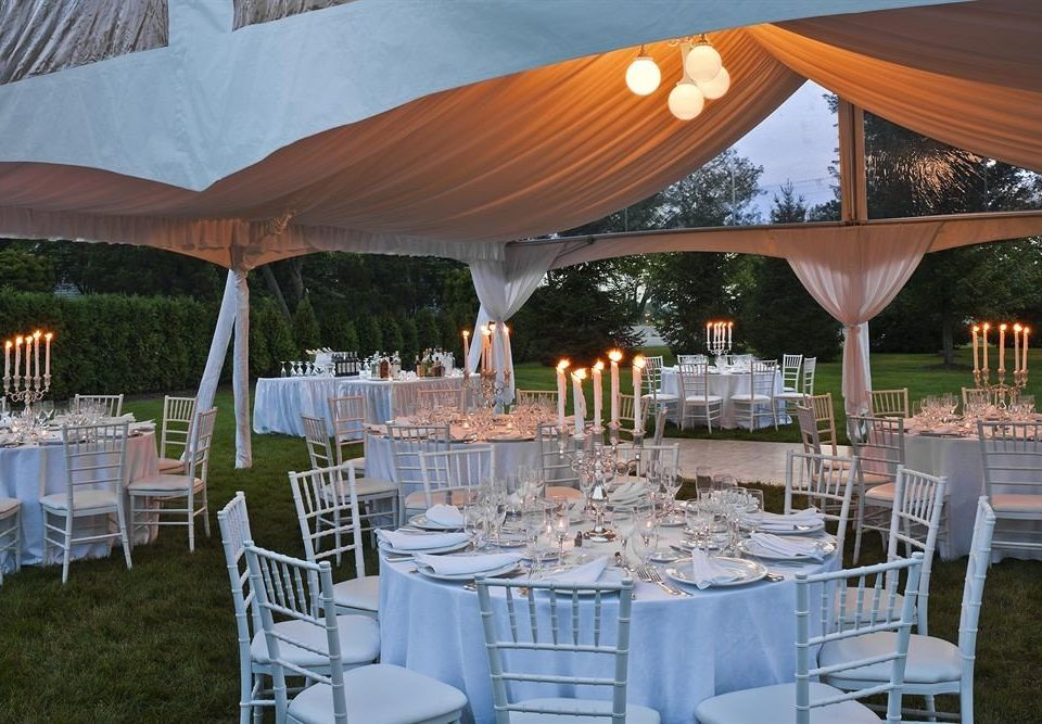 Elegant Garden Grounds Party Romantic chair grass Dining lawn banquet function hall wedding reception tent set wedding empty