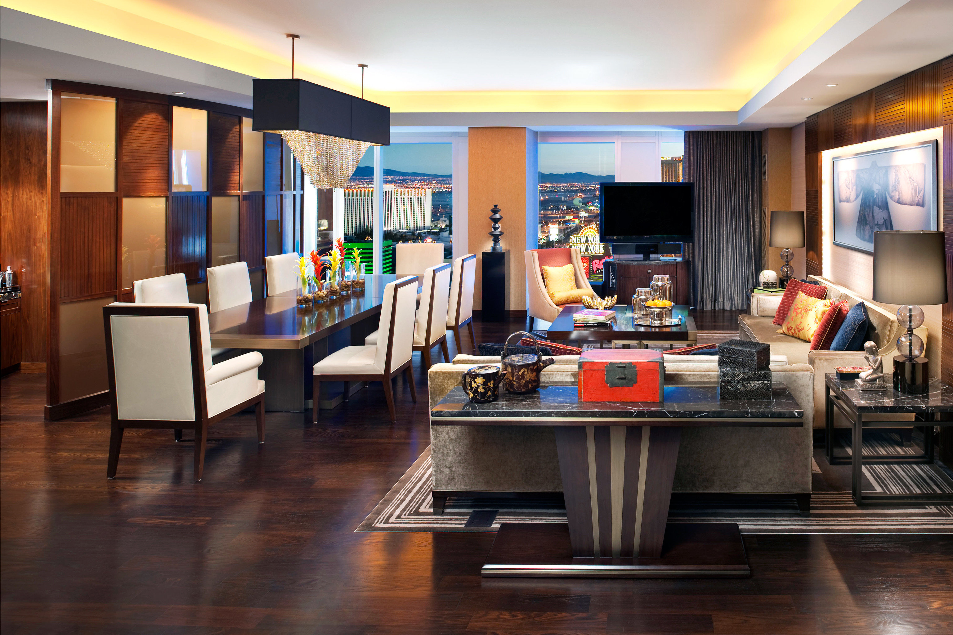 Dining Elegant Luxury Resort property recreation room living room home Lobby Suite condominium Modern