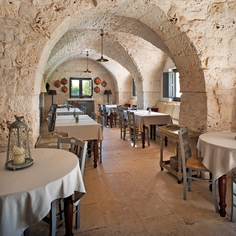 Dining Elegant Romantic Rustic property restaurant hacienda palace Villa Lobby mansion farmhouse arch stone