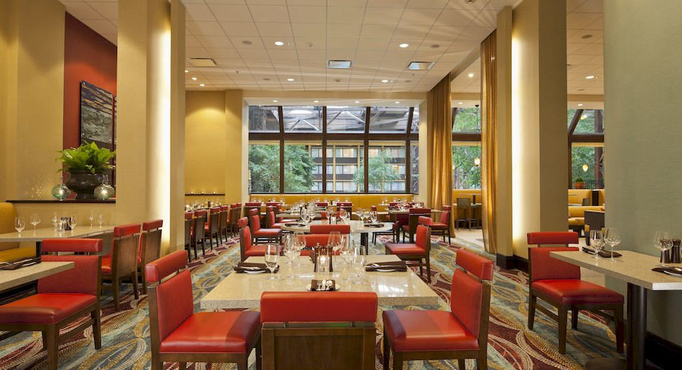 Dining Family chair restaurant red cafeteria function hall café Lobby Resort