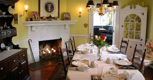 Dining Historic property home living room cottage mansion Villa cluttered dining table