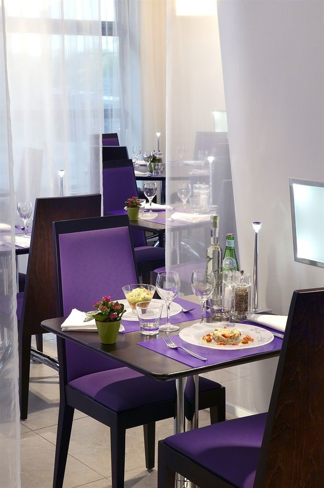 purple property restaurant home living room Dining set