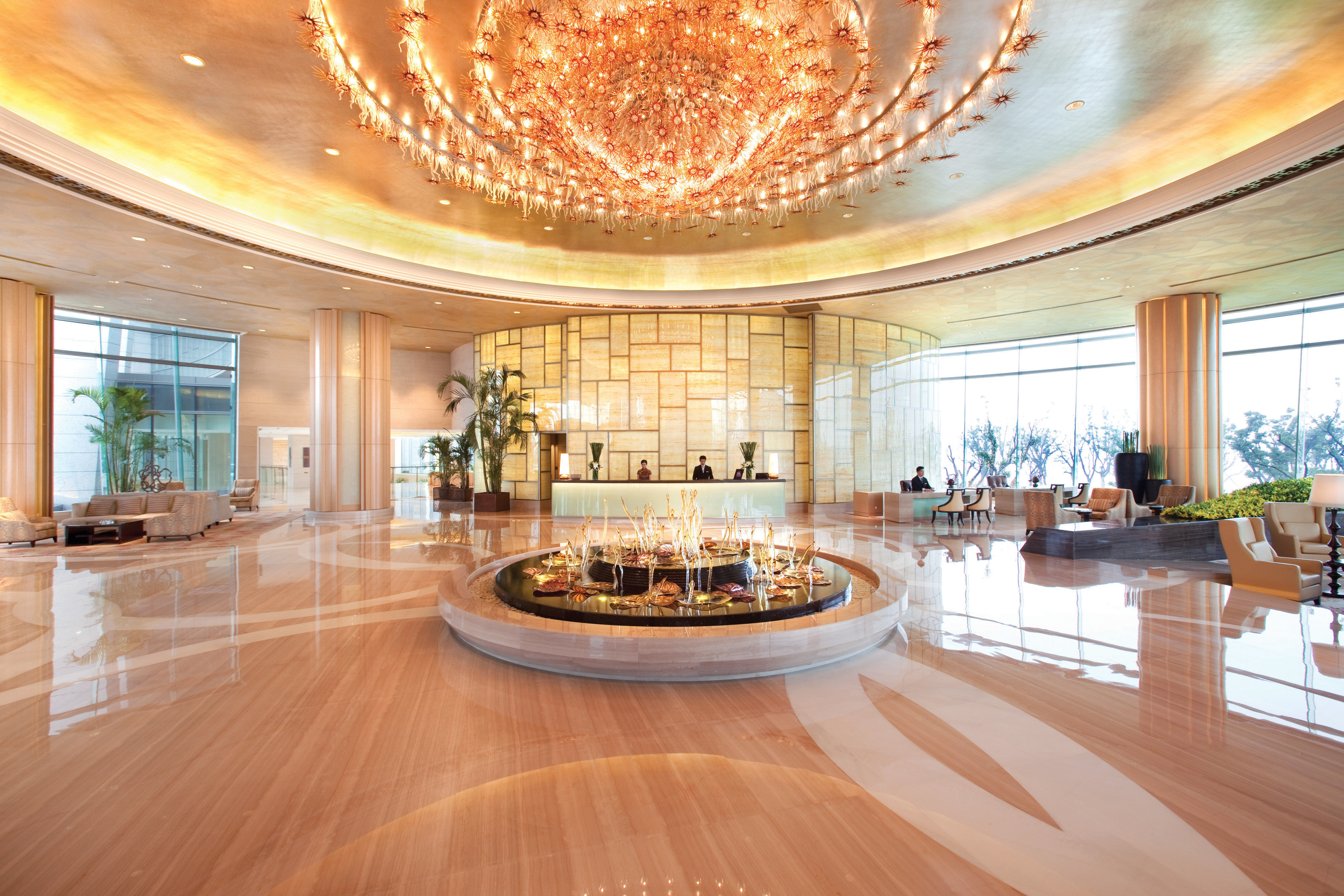 Lobby Lounge Luxury property building mansion home Dining living room function hall wood flooring ballroom flooring convention center Island