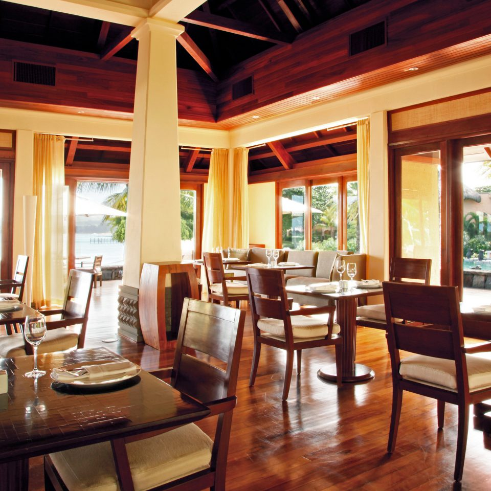 Dining Island Luxury Romance Romantic property chair Resort restaurant wooden home living room cottage Villa overlooking dining table