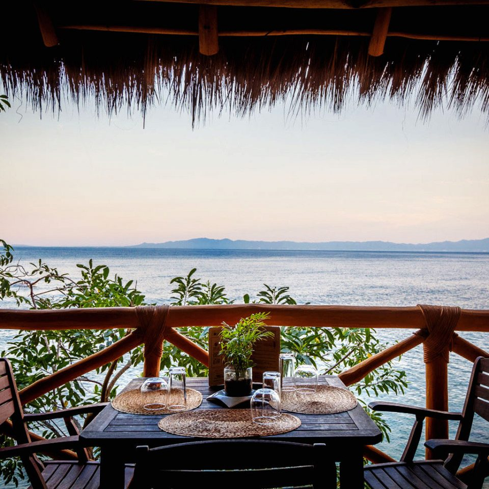 Dining Island Treehouse Waterfront tree water Resort overlooking