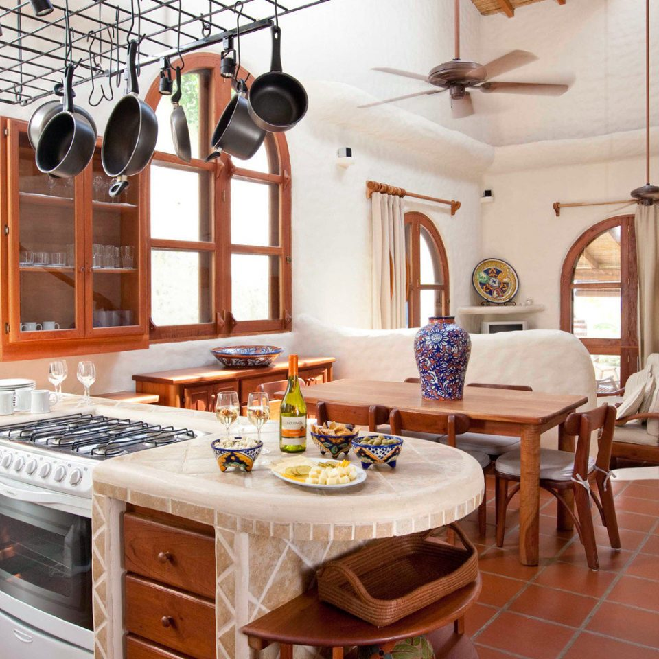 Dining Kitchen Luxury Rustic Tropical Villa property home cottage farmhouse cabinetry tile tiled