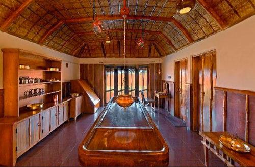 Kitchen property building wooden billiard room recreation room Dining mansion Resort cottage