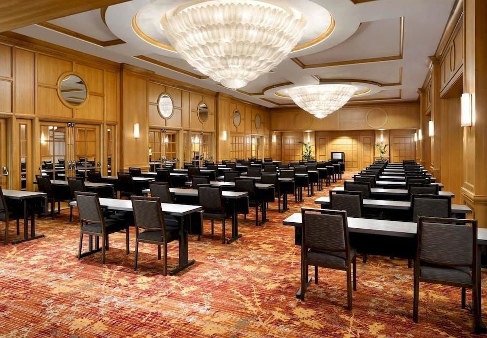 chair auditorium function hall conference hall Lobby restaurant convention center ballroom Dining cafeteria lined