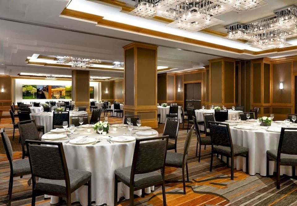 chair function hall restaurant Dining conference hall convention center ballroom buffet Lobby set