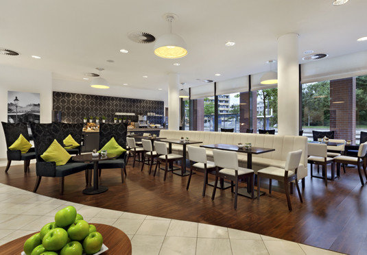 property condominium Lobby restaurant cafeteria function hall Dining hard